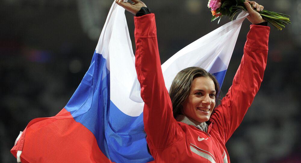 Yelena Isinbayeva aux JO de Londres