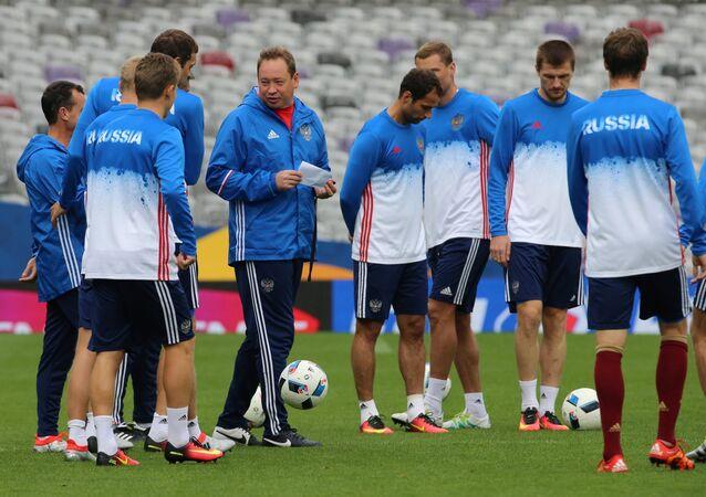 Euro 2016: l'équipe russe s'entraîne à Toulouse avant le match contre le Pays de Galles