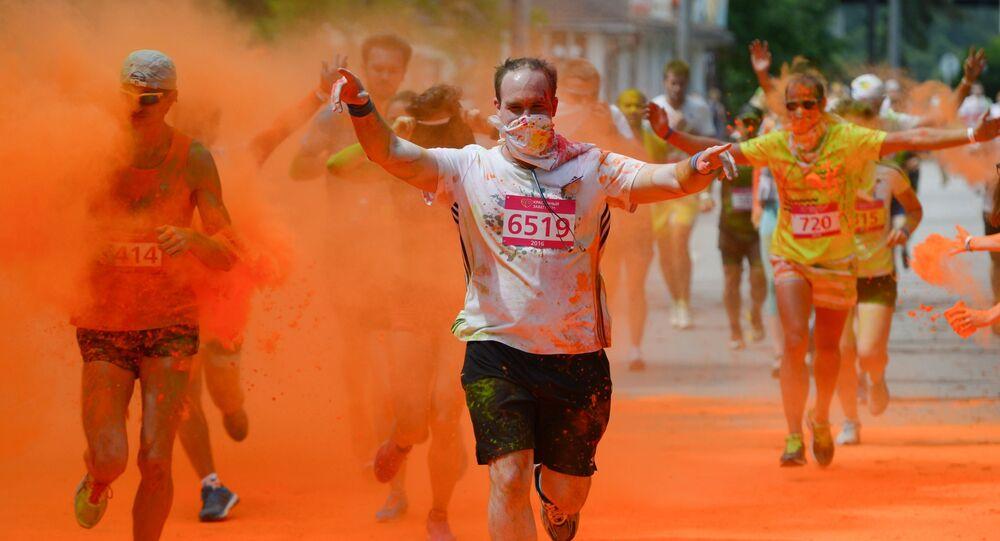 La course à pied The Color Run à Moscou