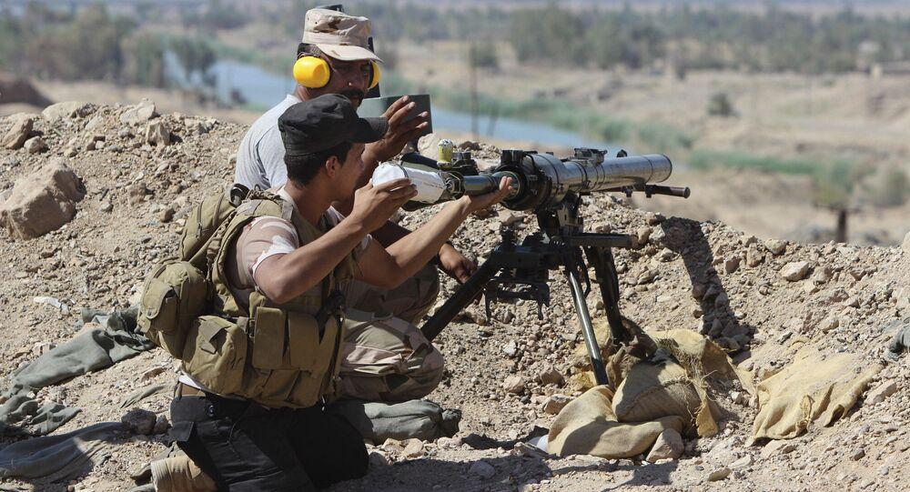 Des soldats irakiens mènent des combats à Falloujah