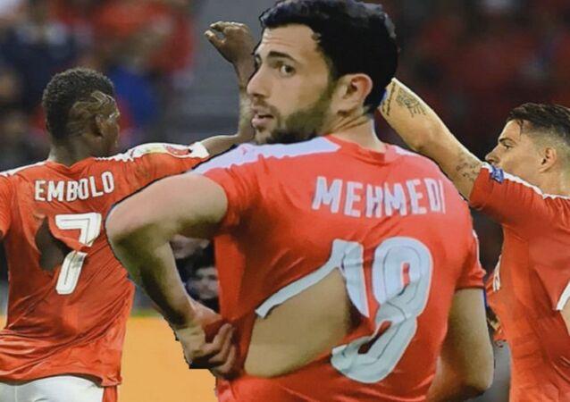 Les footballeurs suisses en maillots déchirés