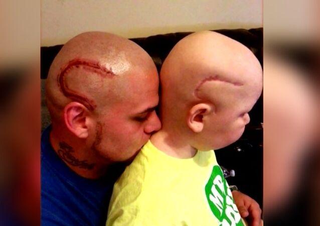Josh J-Mash Marshall et son fils Gabriel Marshall