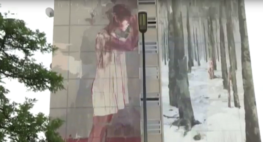 Une peinture murale à Berlin fait scandale
