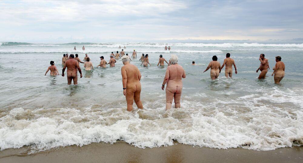 Nudistes allemands. Image d'illustration
