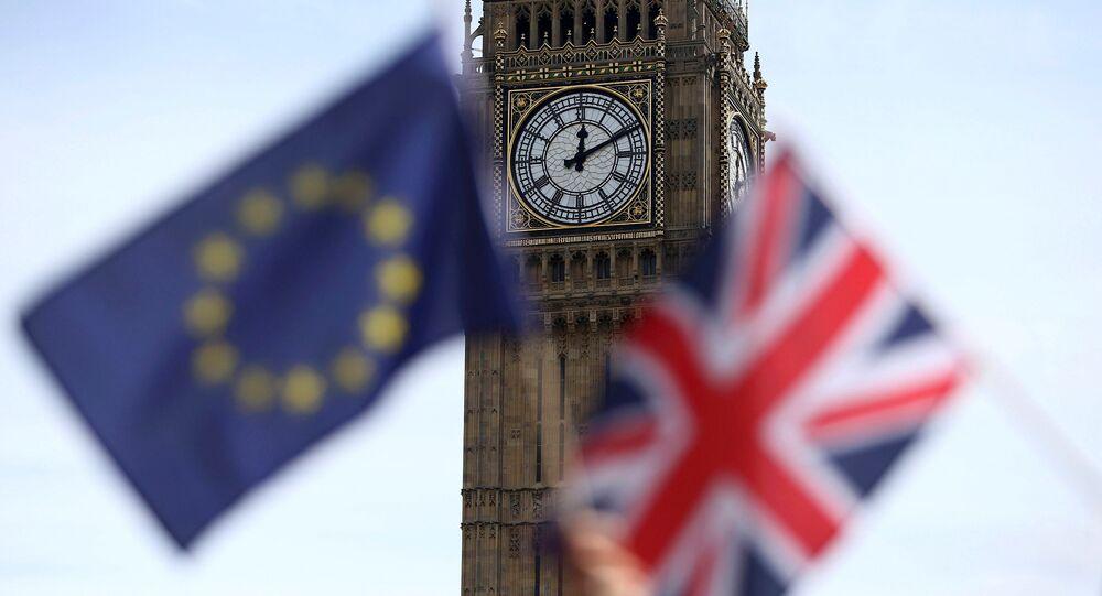 Les couleurs britannique et européenne à Londres