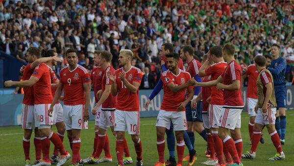 Les joueurs du Pays de Galles après la victoire sur l'Irlande du Nord à l'Euro 2016 - Sputnik France