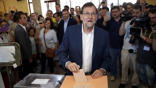 Mariano Rajoy  lors des législatives de dimanche 26 juin - Sputnik France