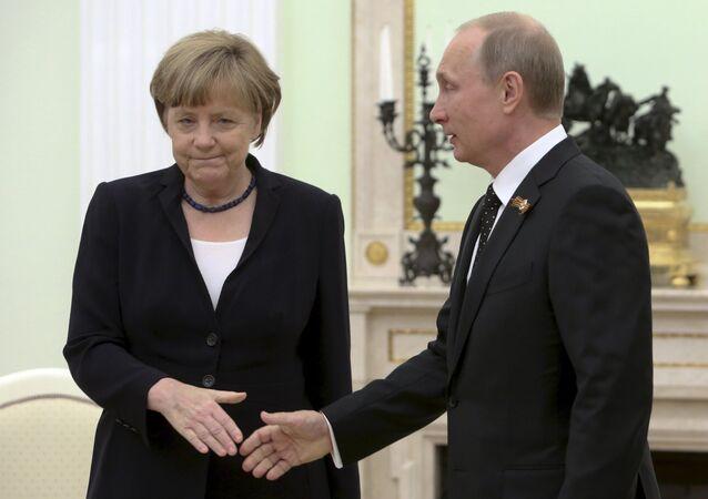 Angela Merkel et Vladimir Poutine