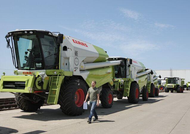 Le grand constructeur allemand de matériel agricole Claas a investi environ 120 millions d'euros dans la construction d'une usine à Krasnodar