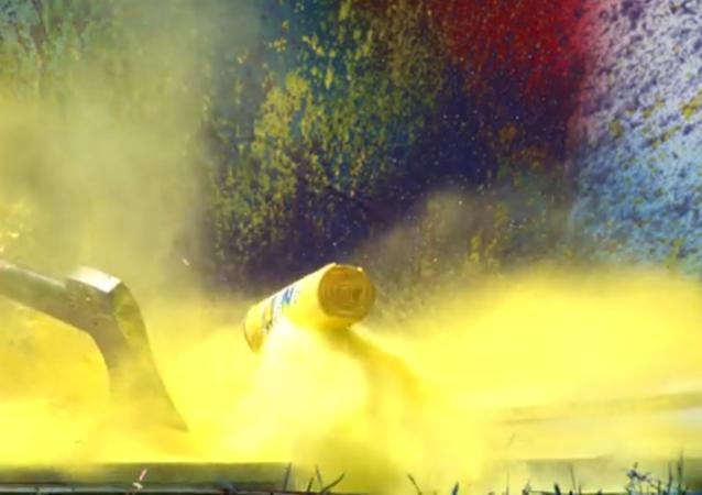 Une explosion de peinture aérosol