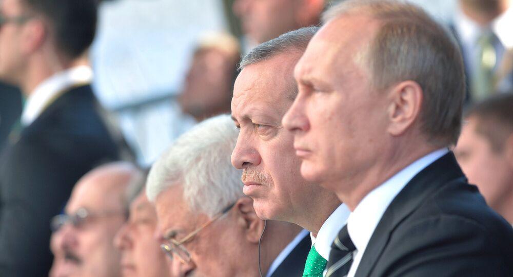 Vladimir Poutine et Recep Tayyip Erdogan. Archive photo