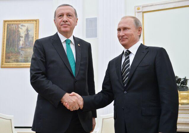 Recep Tayyip Erdogan et Vladímir Poutine