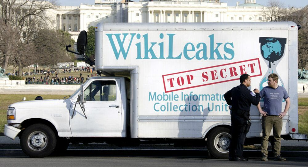 Le fourgon de Wikileaks