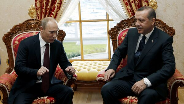 Le président russe Vladimir Poutine et son homologue turc Recep Tayyip Erdogan - Sputnik France