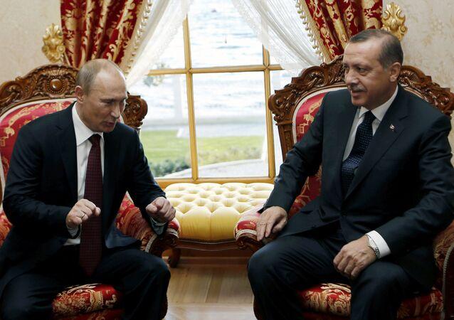 Le président russe Vladimir Poutine et son homologue turc Recep Tayyip Erdogan