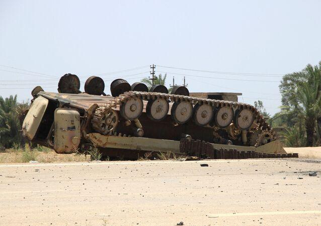 Le véhicule blindé de Daech en Irak