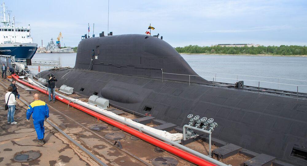 Le premier sous-marin polyvalent  du projet Iassen, le K-560 Severodvinsk