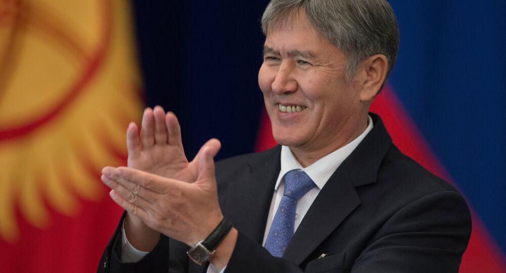Président de la Kirghizie Almazbek  Atambaev