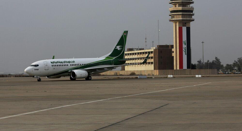 Un avion d'Iraqi Airways à l'aéroport de Bagdad