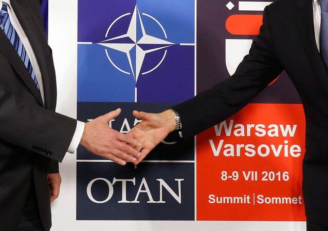 Logo du sommet de l'Otan à Varsovie