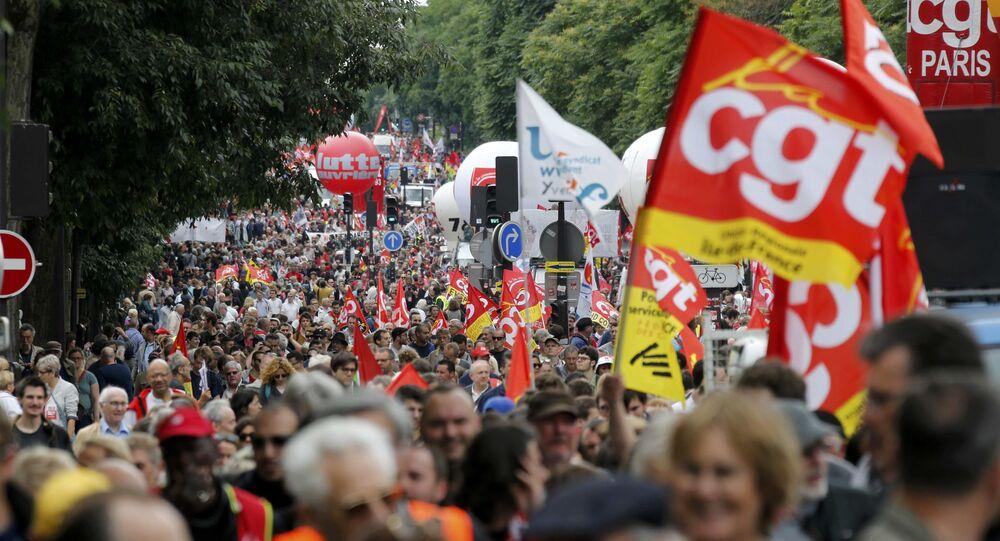 Manifestation contre la loi travail à Paris