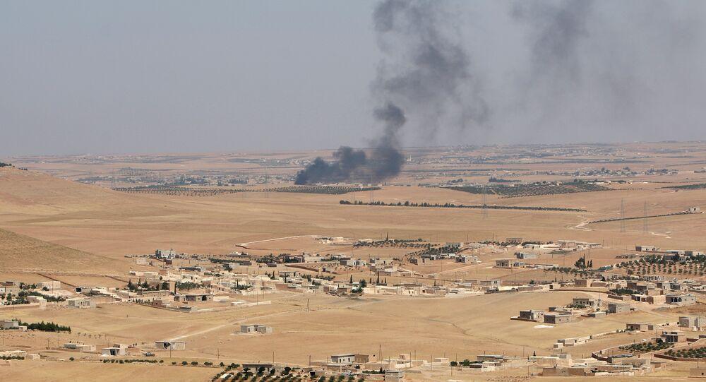 Les environs de Manbij, Syrie