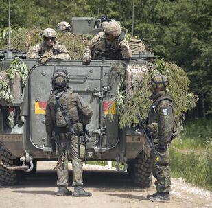 Militaires de l'Otan lors d'un exercice en Estonie