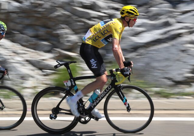 Christopher Froome pendant le Tour de France