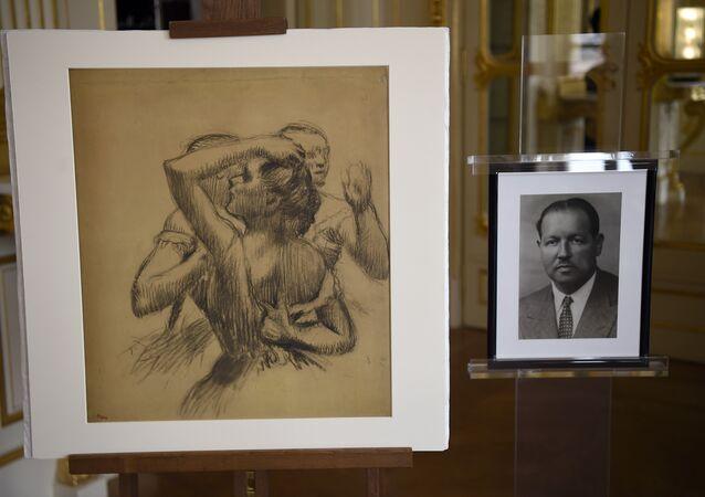 Trois danseuses en buste, Degas