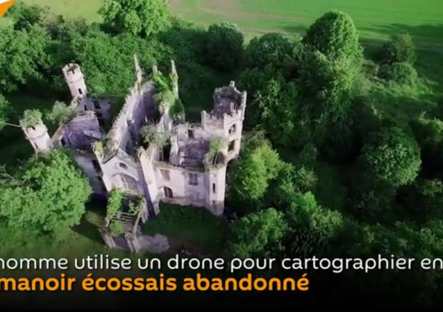 Une carte 3D d'un manoir abandonné créée grâce à un drone