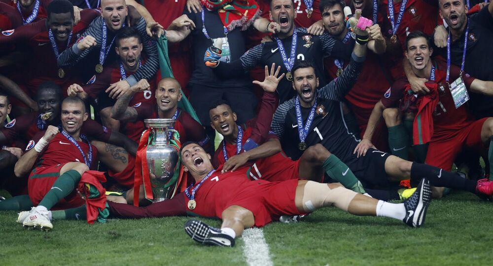 L'équipe portugaise, championne de l'EURO 2016