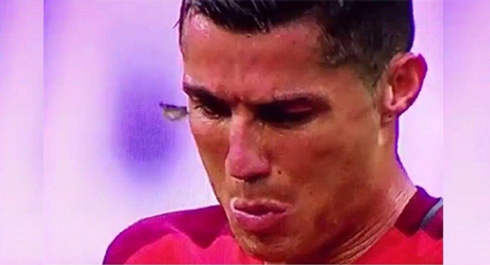 Cristiano Ronaldo pendant le match Portugal-France