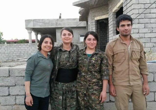 Les combattants yézidis