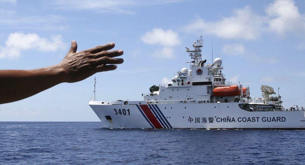 Garde-côte chinois en mer de Chine méridionale