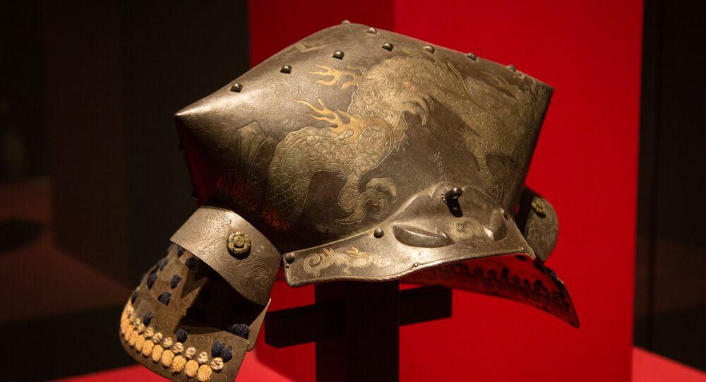 l'armure d'un samouraï, image d'illustration