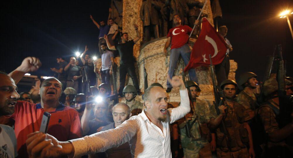 Protestataires en Turquie