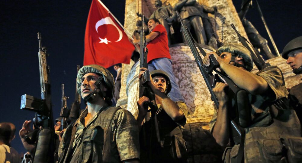 Turkey Coup With Flag