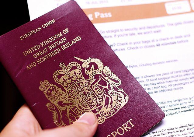 Passeport britannique, image d'illustration