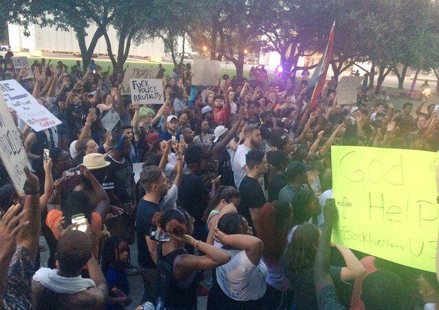 Protestations à Dallas