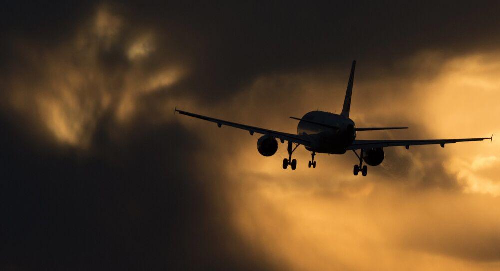 Avion de l'aviation civile. Image d'illustration