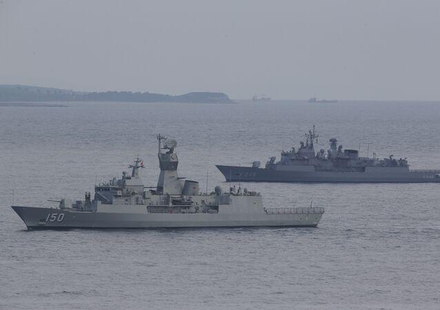 Navires militaires turcs. Image d'illustration