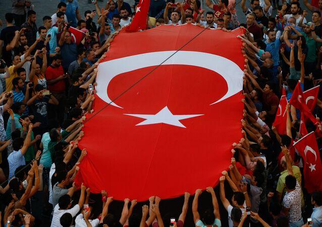 Le drapeau de la Turquie