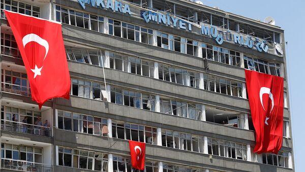 Drapeaux turcs à Ankara - Sputnik France