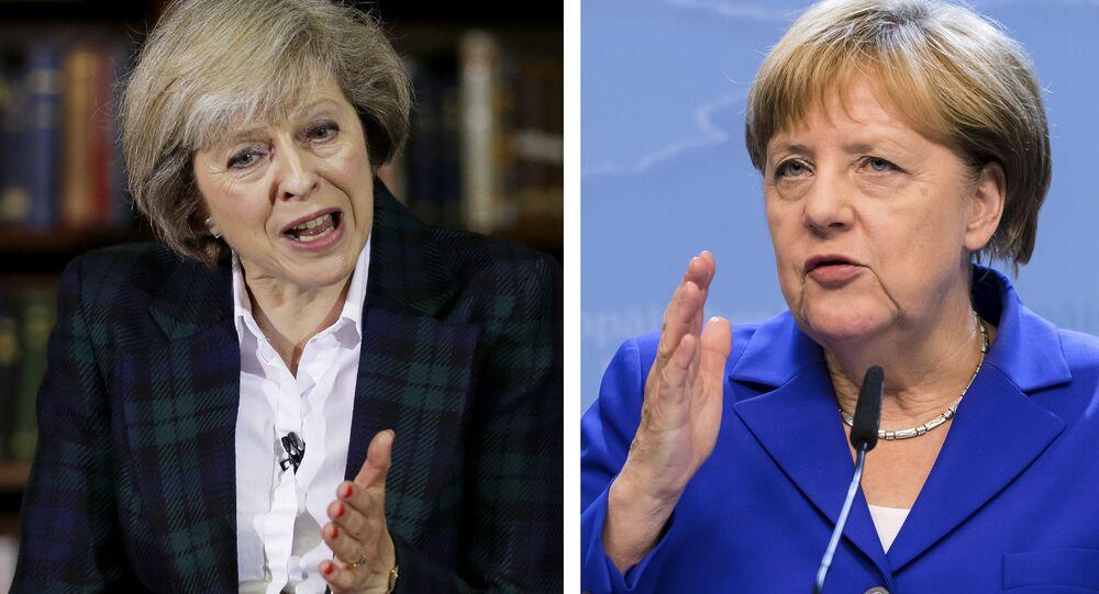 Theresa May VS Angela Merkel