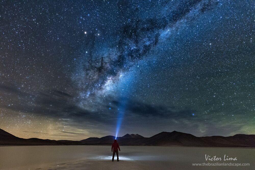 La nuit à Piedras Rojas dans le désert d'Atacama.