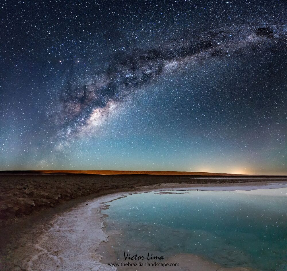 Les Lagunas Baltinache au milieu du désert d'Atacama.