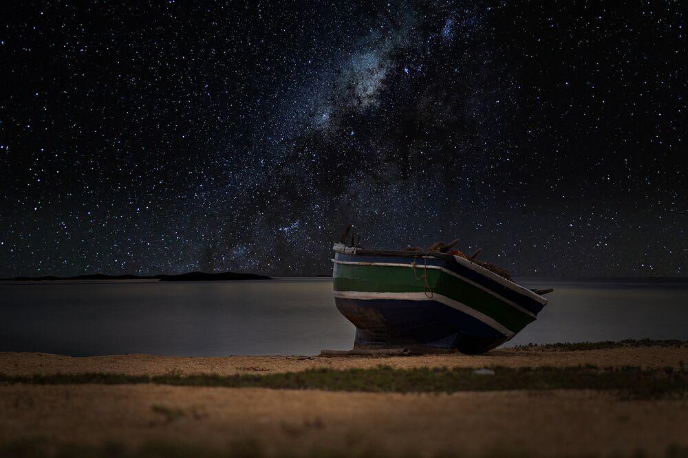 Une nuit magnifique sur la plage.