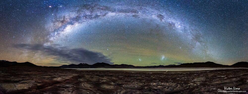 La Voie lactée dans le désert d'Atacama.