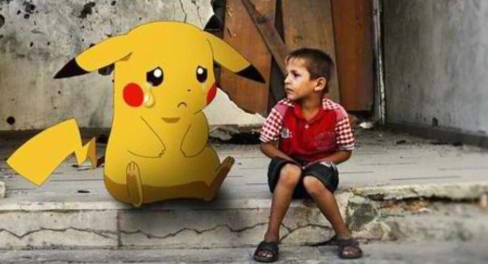 Pokemon en main, des enfants syriens lancent un cri de détresse