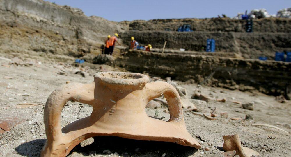 des fouilles